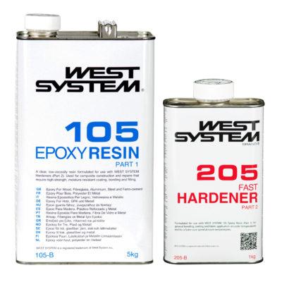 WEST SYSTEM B-pack - żywica 105 i utwardzacz 206